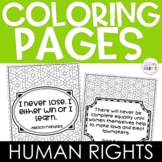 Human Rights Leaders Coloring Pages with Quotes
