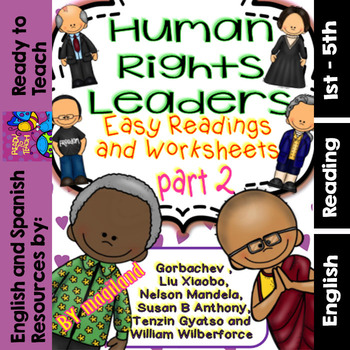 Human Rights Leaders /Readings and Printables with a Mini
