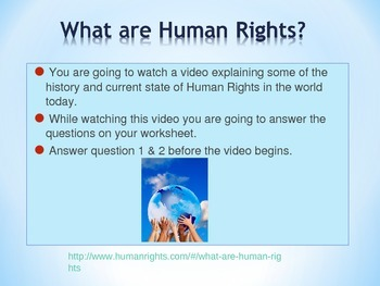 Human Rights Power Point (with video link)