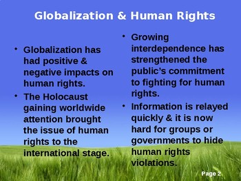 Human Rights Powerpoint - Global Issues.