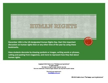 Human Rights Bookmarks - Start the Discussion!