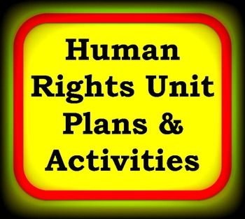 Human Rights Unit Plans & Activities