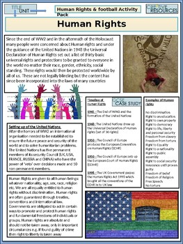 Human Rights Work Booklet of Student Activities and Worksheets