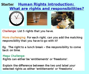Human Rights and Responsibilities