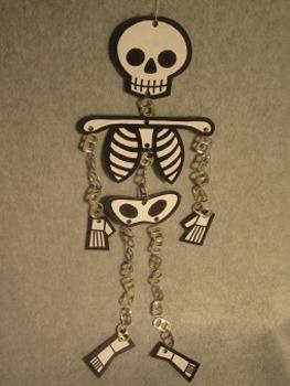 Human Skeleton Mobile. Fun Craft Art