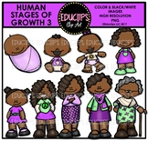 Human Stages Of Growth 3 - African American Female {Educlips Clipart}