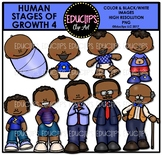 Human Stages Of Growth 4 - African American Male {Educlips Clipart}