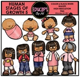 Human Stages Of Growth 5 - Asian Female {Educlips Clipart}