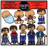 Human Stages Of Growth 6 - Asian Male {Educlips Clipart}