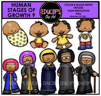 Human Stages Of Growth 9 - Islamic Female {Educlips Clipart}