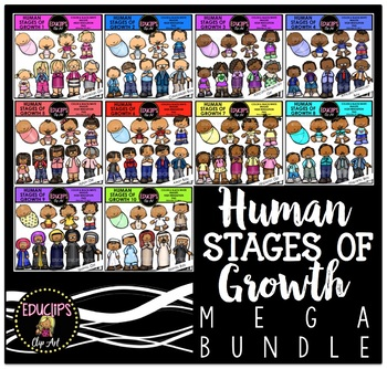 Human Stages Of Growth Mega Bundle {Educlips Clipart}