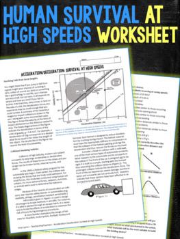 Human Survival at High Speeds Worksheets