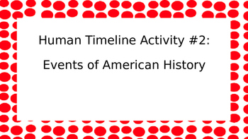 Human Timeline Activity #2: Events of American History