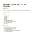 Human Wast & Acidity Quality - Lab