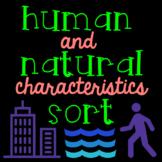 Human and Natural Characteristics Sort