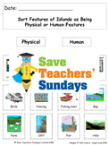 Human and Physical Features of Islands Lesson plan, PowerPoint and Worksheets