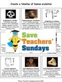 Human evolution timeline Lesson plan and Worksheet / Activity