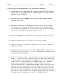 Human impacts on the environment free response test questions