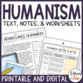 Renaissance Humanism Lesson & Activities