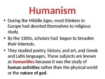 Humanism & the Renaissance Lesson