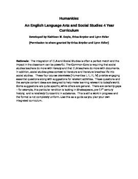 Humanities: An integrated High School ELA and Social Studies curriculum