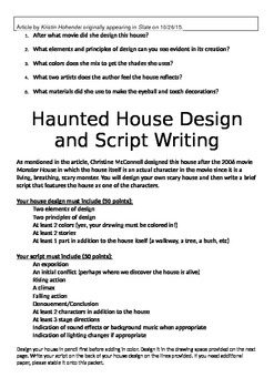 Humanities Haunted House Theater Activity