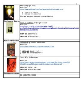 Humanities Syllabus