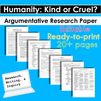 Humanity: Kind or Cruel?  Argumentative Research Paper