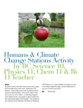 Humans' Activity and Climate Change Stations