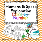 Humans & Space Exploration Color-by-Number (TEKS 7.9B)