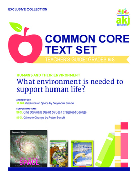 Humans and their Environment Common Core Text Set