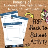 Humans of Kindergarten [all about me back to school activity]