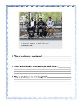 Humans of New York Language Activity