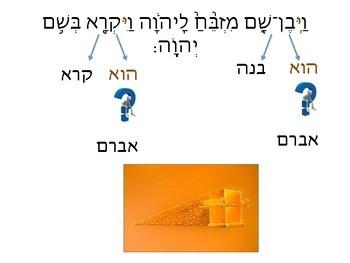 Humash  פרק יב פסוק ח