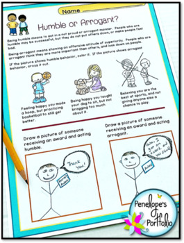 HUMBLE Character Education Packet