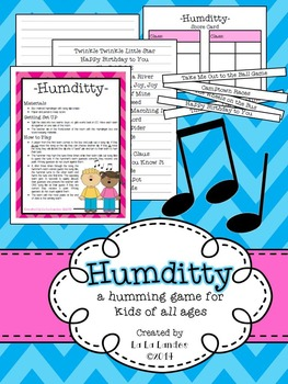 Humditty- a musical humming game for kids of all ages