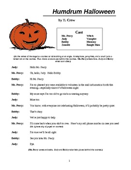 Humdrum Halloween, an elementary play