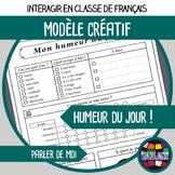 Printables to teach French/FFL/FSL: Humeur du jour/Daily m