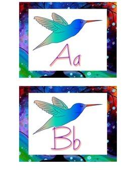 Humming Bird Themed Editable Word Wall