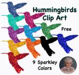 Hummingbird Sparkley Silhouette Clip Art Free Sampler