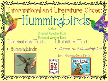 """Hummingbird """"Flew-ency"""" Unit with Closes,  Literacy, Math and SACC"""