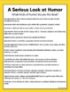 Humor Genre Study And Book Report