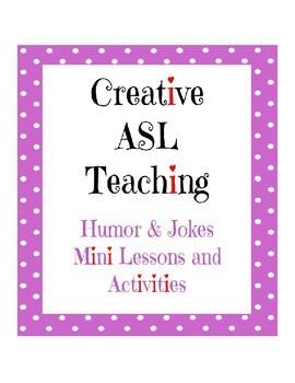 Humor and Jokes Mini Unit - ASL Lesson