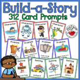 Build-a-Story Card Decks with 312 Humorous Characters, Settings, Plots