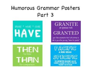 Humorous Grammar Posters - Part 3
