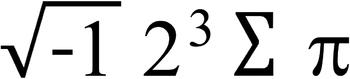 Humorous Math Equation: i 8 sum pi = I ate some pie.