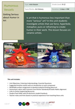 Humorous Vessels - Getting Serious About Humor in Art - Art History mini-lesson
