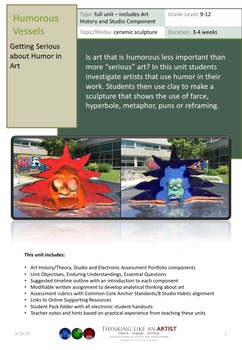 Humorous Vessels - Getting Serious about Humor in Art - full unit