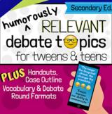 Humorously Relevant Debate Topics for Tweens & Teens