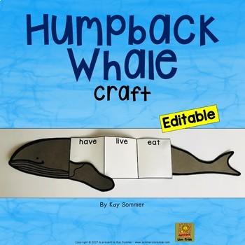 Humpback Whale Craft *EDITABLE*